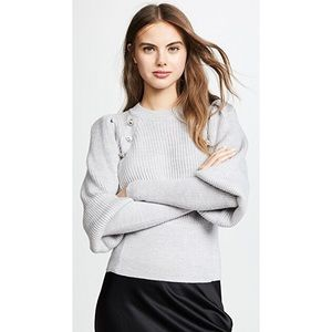 Veronica Beard Abby Gray Embellished Sweater